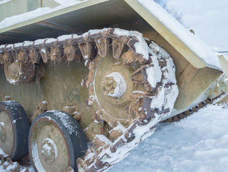 in winter the snow tank chassis second world war.