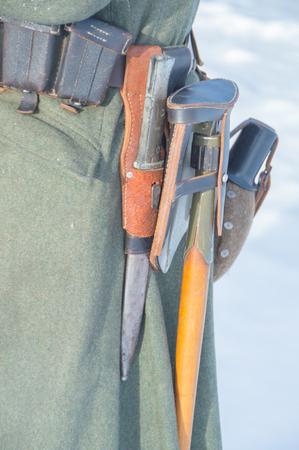 ammunition, the German soldier closeup.