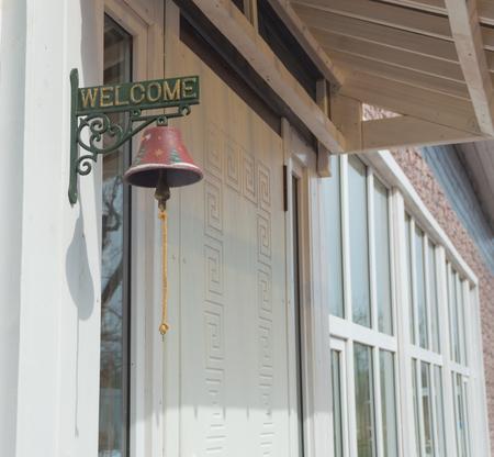 door bell to call the owner.