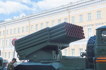 러시아, 상트 페테르부르크, 7 5 월 2017, 승리 퍼레이드의 리허설 - 설정 그라드.