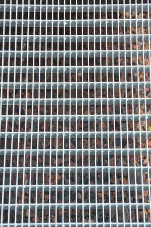 texture, steel square grille closeup.