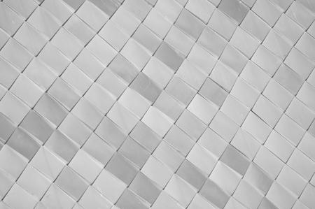 zwart en wit vierkant dak met textuurmuren