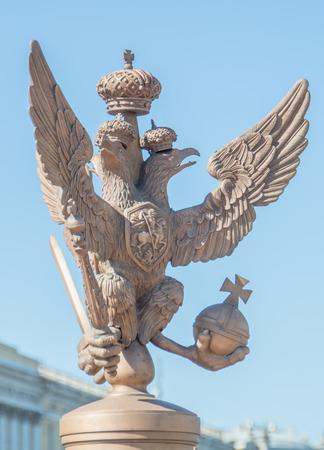 Rusland, Sint-Petersburg, 12 juni 2017 - Keizerarend bij de Hermitage. Redactioneel