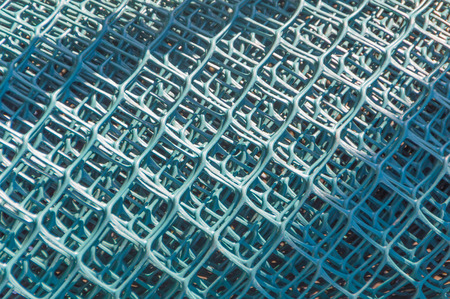 coils with mesh for fencing.