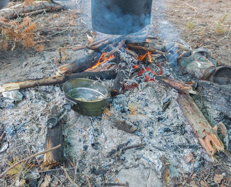 nature basking in the fire of morning porridge with dried fruits.