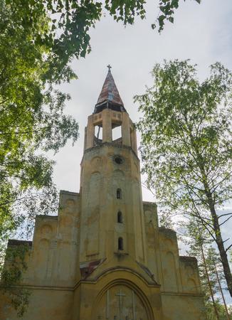 빈티지 루터 교회 타워