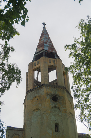 the tower of the old Lutheran Church.