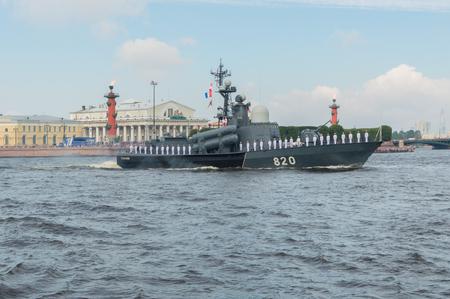 ロシア、サンクトペテルブルク、2017 年 7 月 30 日ネヴァ小型ミサイルの海域では、チュヴァシ共和国の船します。