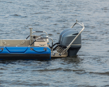 a feed boats with outboard motors.