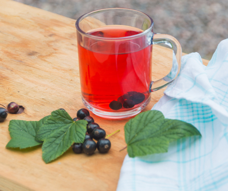 Tea from the berries of black currant.