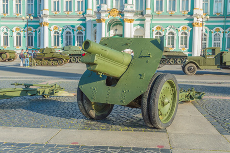 Russia, Saint-Petersburg, August 10, 2017 - exhibition of military equipment, which defended Leningrad during the blockade. Editöryel