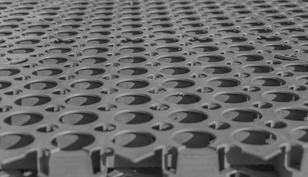 black and white plastic grille with . Stock Photo