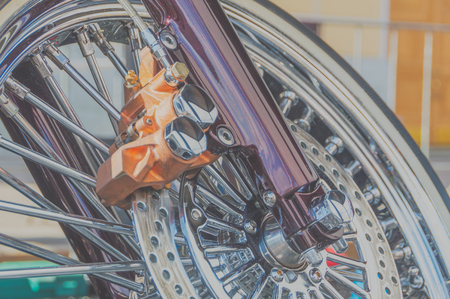 disc brake retro bike closeup Reklamní fotografie