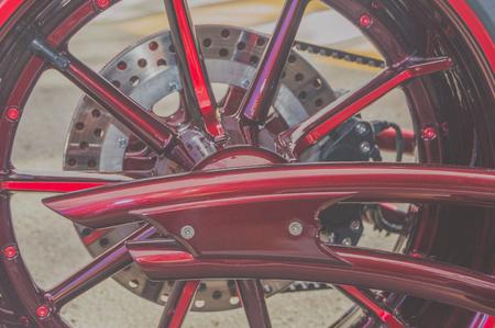 현대 오토바이의 뒷바퀴 스톡 콘텐츠 - 88188155