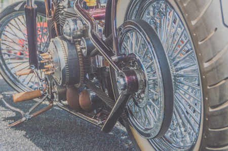 the engine and big wheel motorcycle