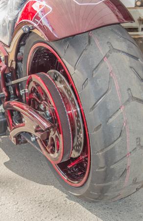 현대 오토바이 후면보기 스톡 콘텐츠 - 88188225