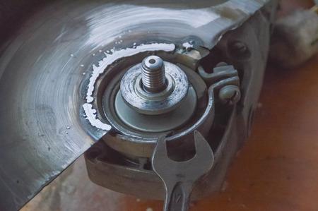 クローズ アップ、手の工具の修理
