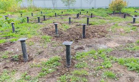 area of screw piles for the construction of the house