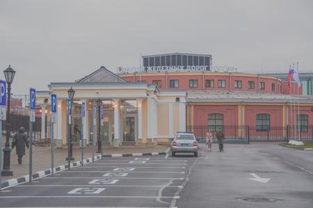 ロシア、サンクトペテルブルク、11月15 2017 - 鉄道博物館の建物。