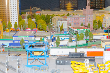 Russia, Saint-Petersburg, January 18, 2018 - the Museum Grand model Russia, city transport and the production in miniature. Редакционное