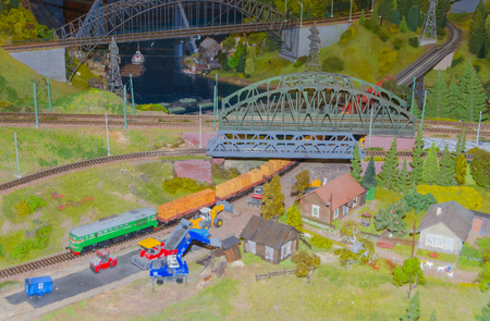 Russia, Saint-Petersburg, January 18, 2018 - the exhibition of Grand maket Russia, layout of major cities, roads and Railways of the country.