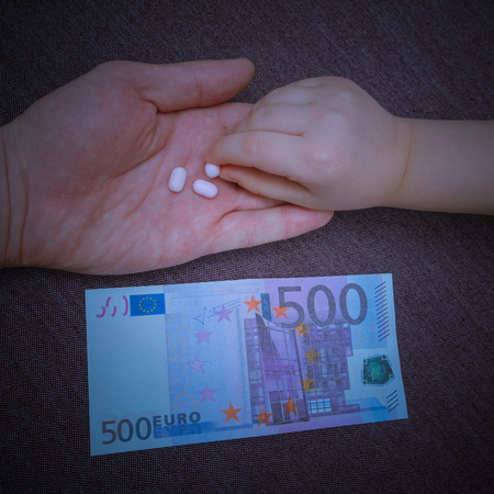 paying five euros, the child takes the pill