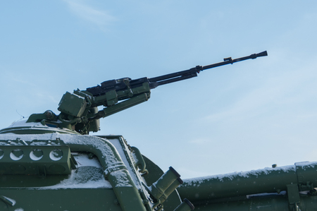 large-caliber machine gun on the tank