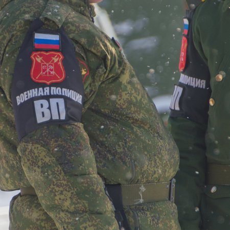 patrol of the military police, winter