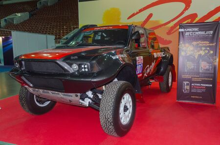Russia, Saint Petersburg, April 13, 2018-buggy rally black, world automobile exhibition in SKK.