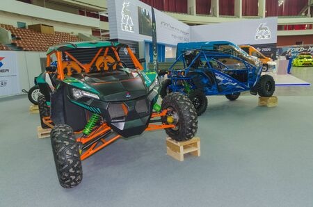 Russia, Saint-Petersburg, 13 April 2018, buggy, ATV, SUV, motor show in CCM.