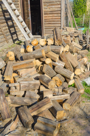 wood texture, firewood and storage shed