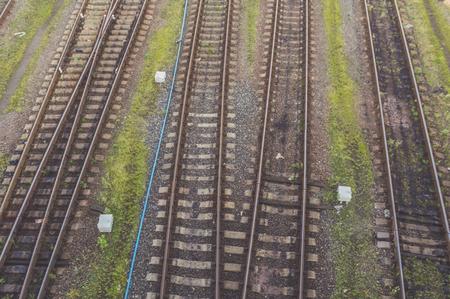 railway tracks top view