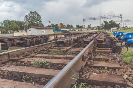 pneumatic brake on the railway