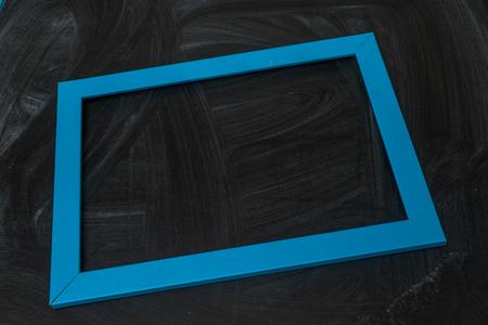 blue frame on black background Stock Photo - 105680525