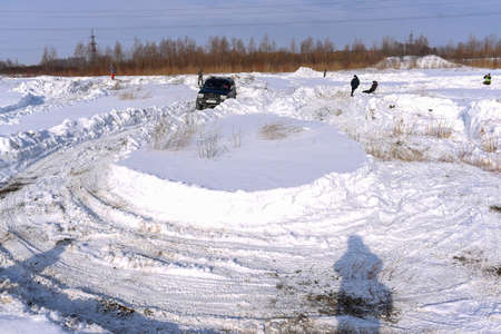 Russia, Novosibirsk-March 23, 2020. Off- road SUV