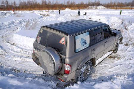 Russia, Novosibirsk-March 23, 2020. Off-road SUV