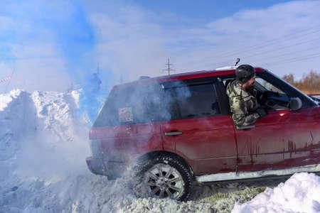 Russia, Novosibirsk-March 13, 2020. SUV