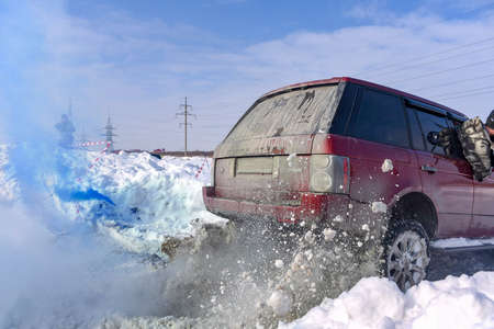 Russia, Novosibirsk - March 13, 2020. Off-road SUV