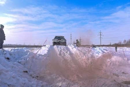 Russia, Novosibirsk-March 13, 2020. Offroad SUV