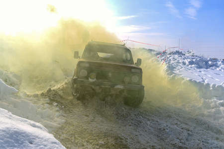Russia, Novosibirsk-March 23, 2020. Russian off- road SUV