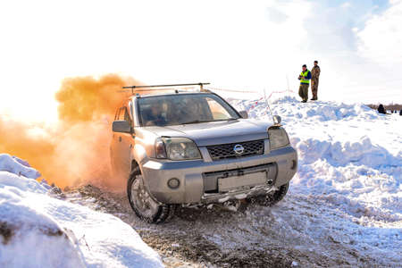 Russia, Novosibirsk-March 23, 2020. Offroad crossover