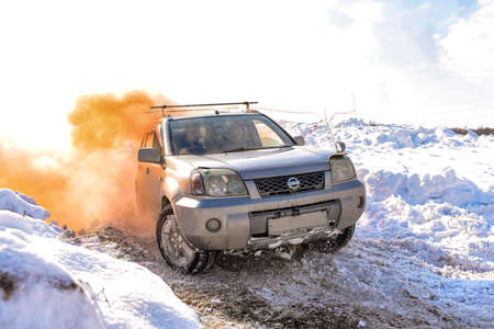 Russia, Novosibirsk-March 23, 2020 . The off- road crossover