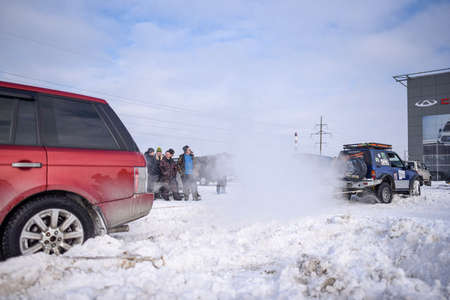 Russia, Novosibirsk - March 13, 2020. Offroad SUV
