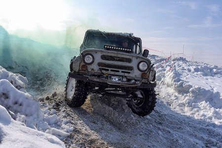 Novosibirsk, Russia -March 23, 2020 . Russian SUV