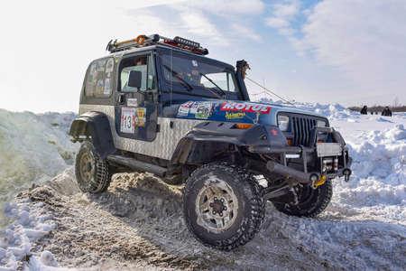 Russia, Novosibirsk-March 23, 2020. Offroad SUV