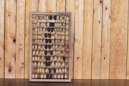Old abacus wooden for the calculating, tree, calculator