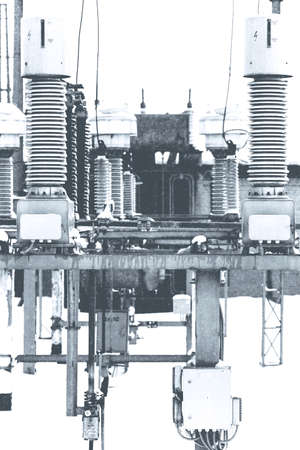 electric power station: High voltage electric power. Structure power station