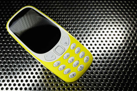 Shockproof phone on metal surface