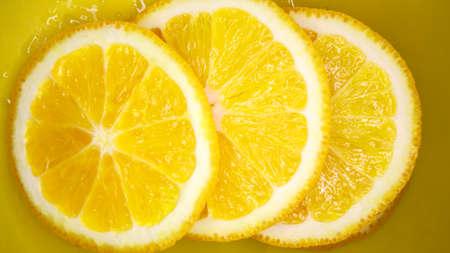 Sliced orange background Stock Photo