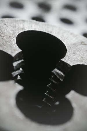 Thread cutting die at factory workshop